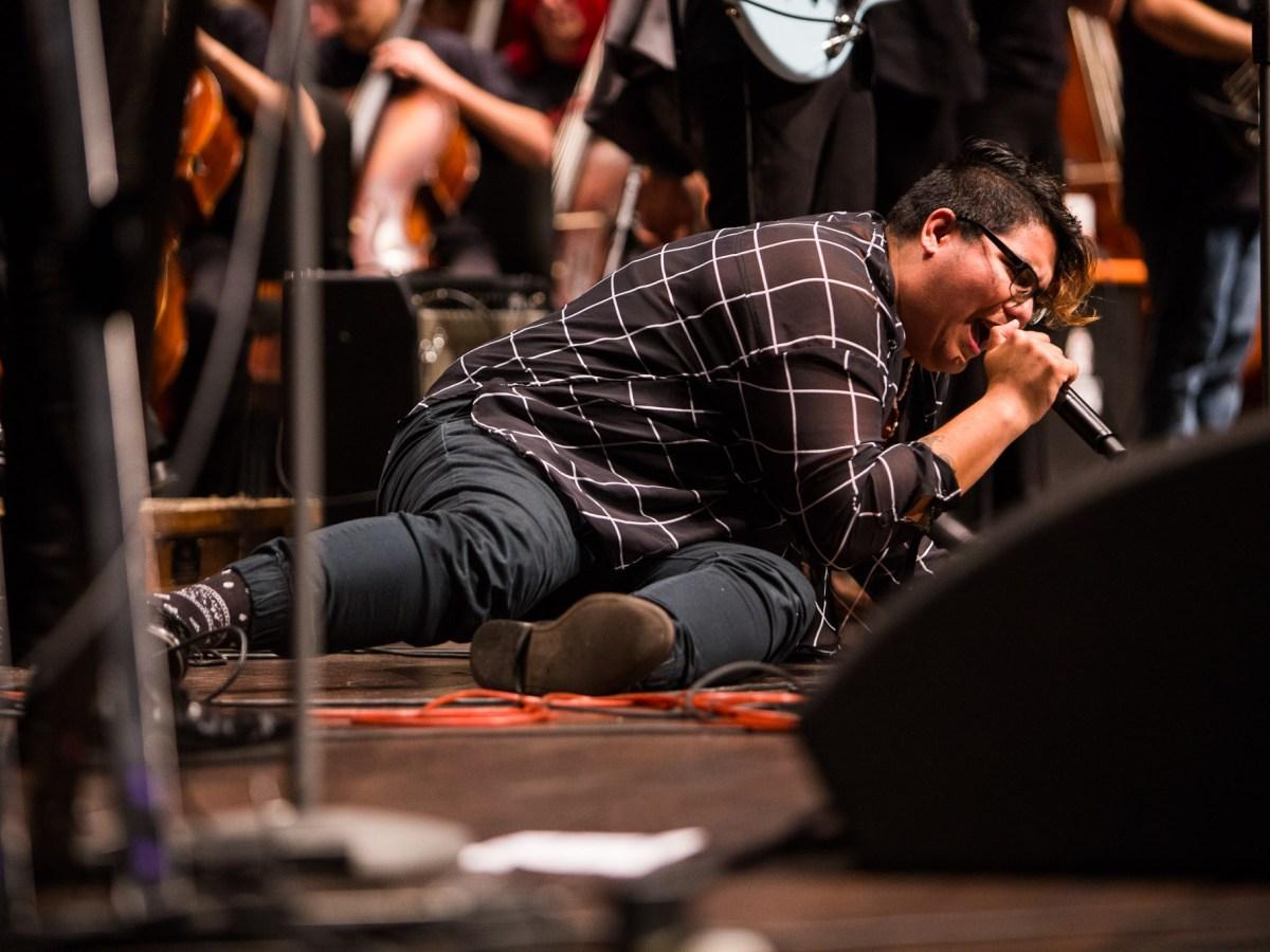 Alyson Alonzo sings Oh! Darling. Photo by Scott Ball.