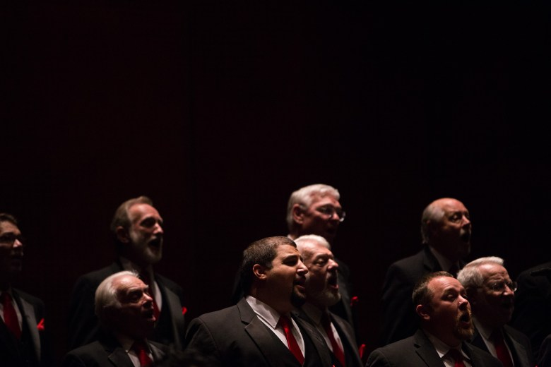 """A Cappella group The Marcsmen sing """"Because."""" Photo by Scott Ball."""