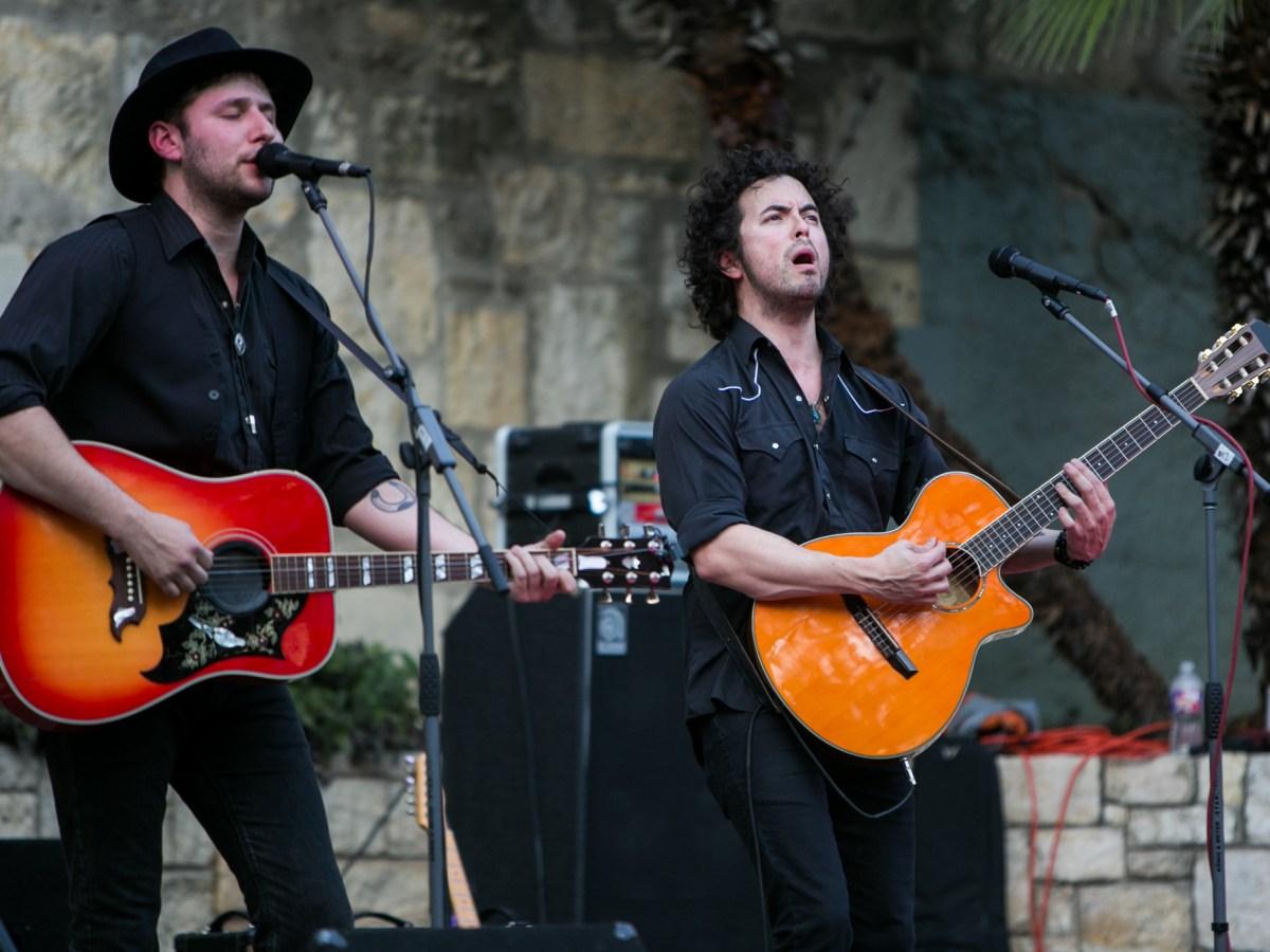 Tex Mex band, The Last Bandoleros, perform at the Arneson Stage. Photo by Kathryn Boyd-Batstone