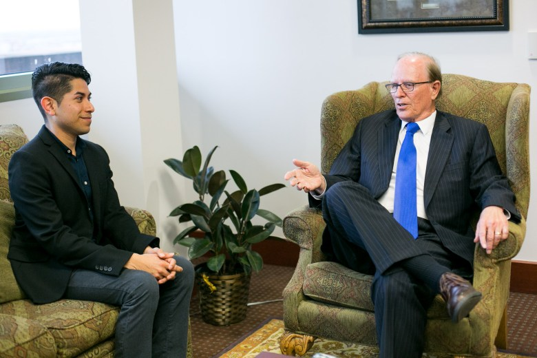 Eddie Chavez and Judge Nelson Wolff. Photo by Kathryn Boyd-Batstone