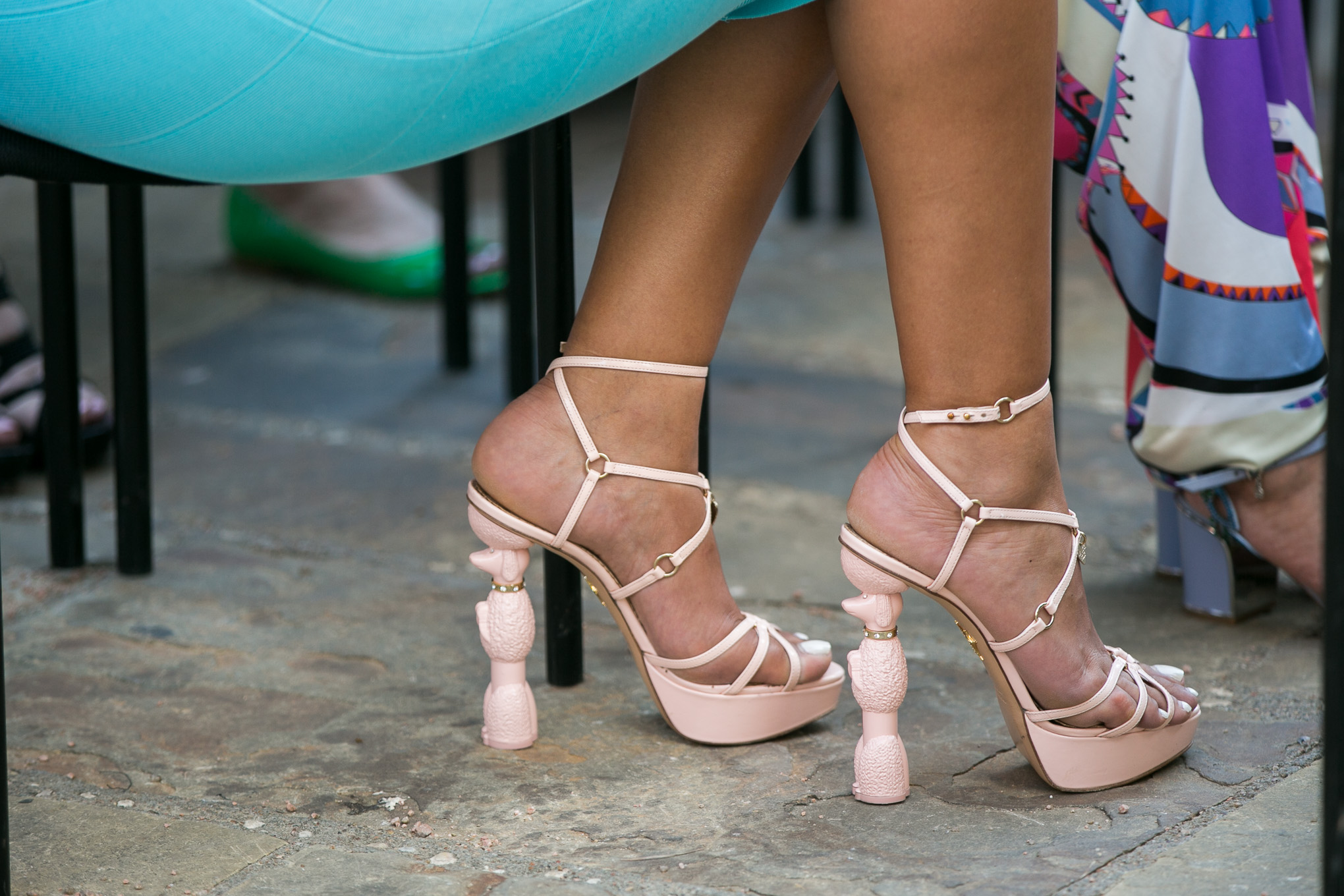 A woman's poodle styled shoes. Photo by Kathryn Boyd-Batstone