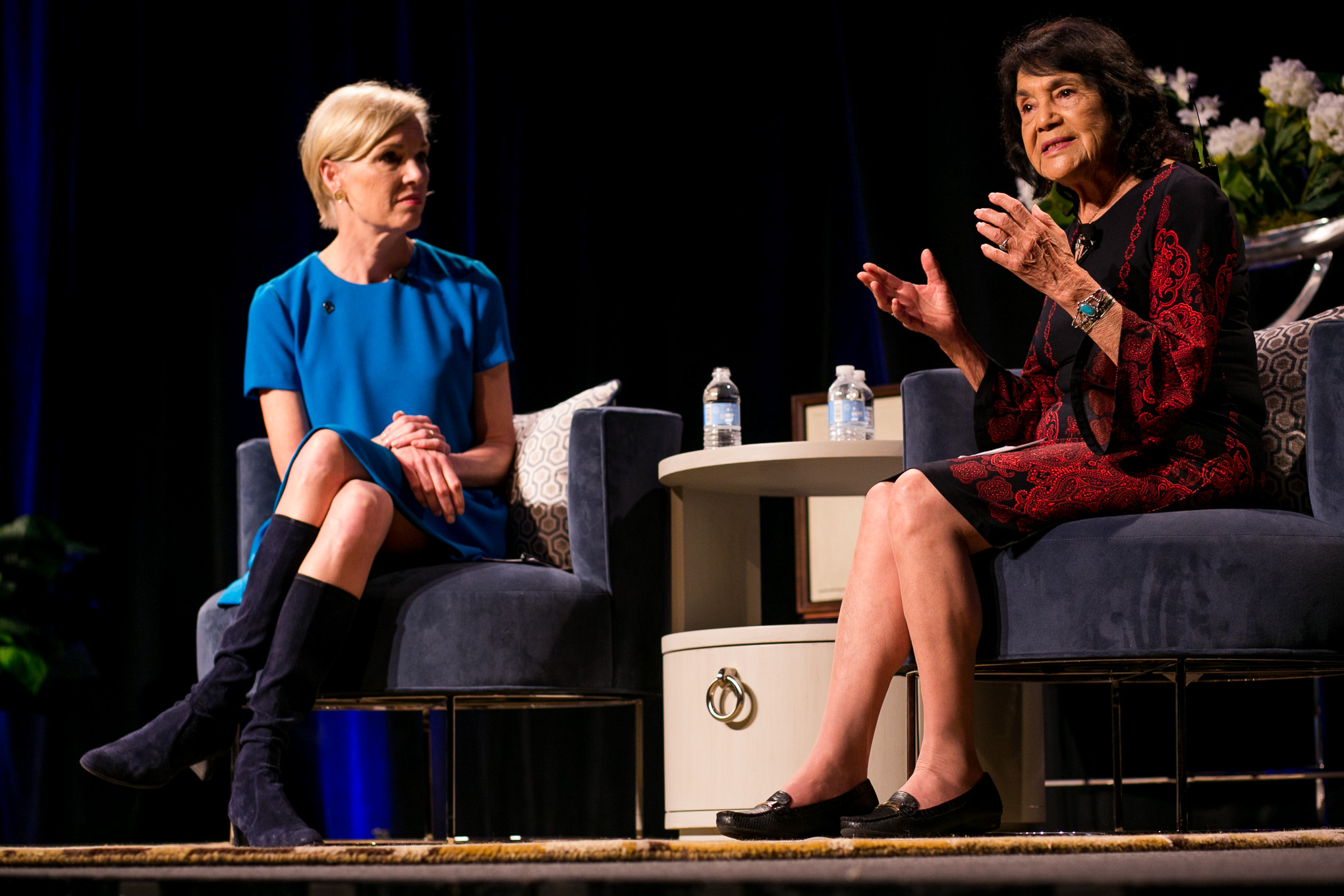 United Farmworkers of America Co-founder Dolores Huerta speaks about the importance for empowered feminist. Photo by Kathryn Boyd-Batstone