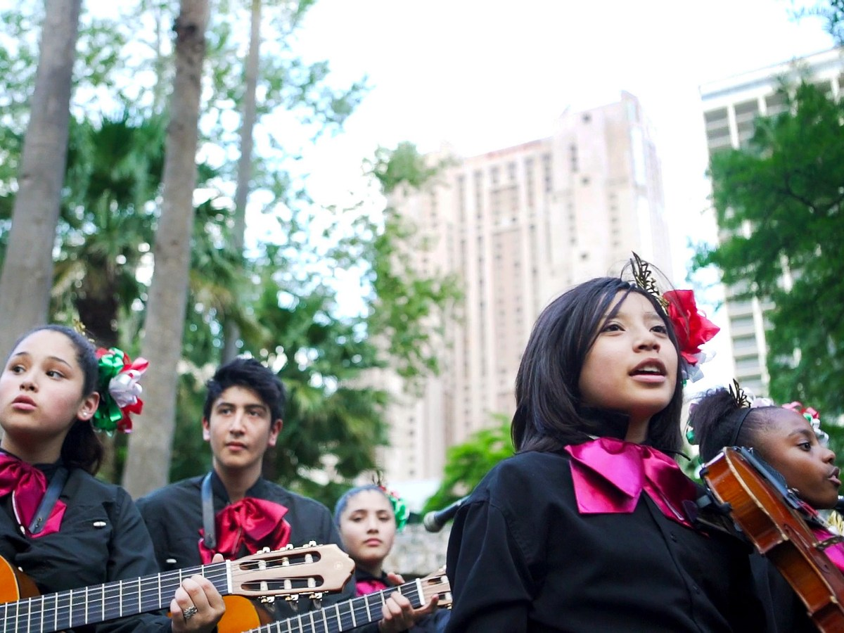 Wheately Middle School was one of 33 schools to perform in the Ford Mariachi Festival. Photo by Kathryn Boyd-Batstone