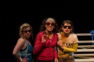 Maggie Tonra, Anna De Luna, and Gerogette Lockwood in Secrets of a Soccer Mom. Photo by Siggi Ragnar.