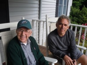 Father and son in 2011.