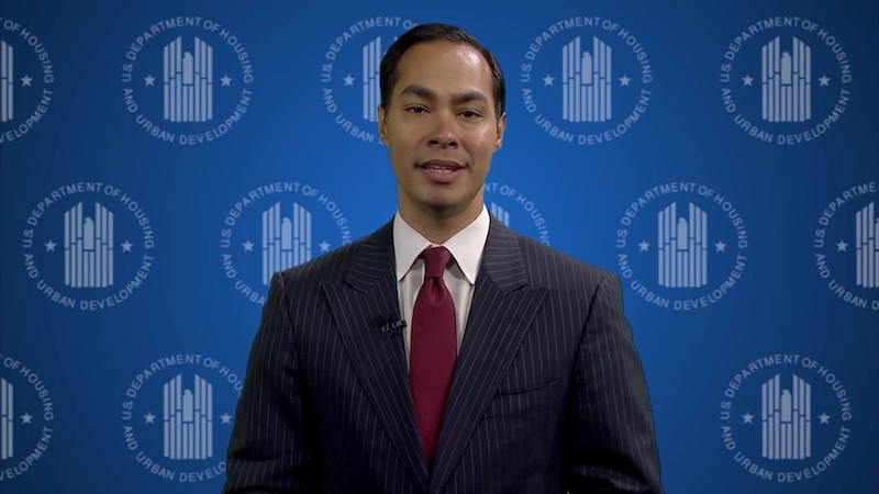 U.S. Department of Housing and Urban Development Secretary Julián Castro annnounces the formation of the National Housing Trust Fund. Image via HUD.