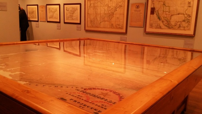 """The Witte Museum's new """"Mapping Texas"""" exhibit includes more than 40 rare maps, many revealed publicly for the first time. The exhibit runs April 29-Sept. 5. Photo by Edmond Ortiz."""