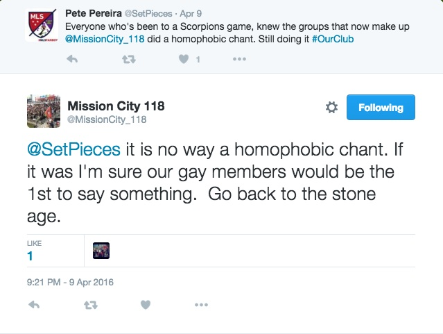 A tweet by @MissionCity_118 on April 9, 2016 at 8:21 p.m.