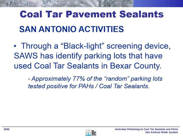 saws coal tar lots