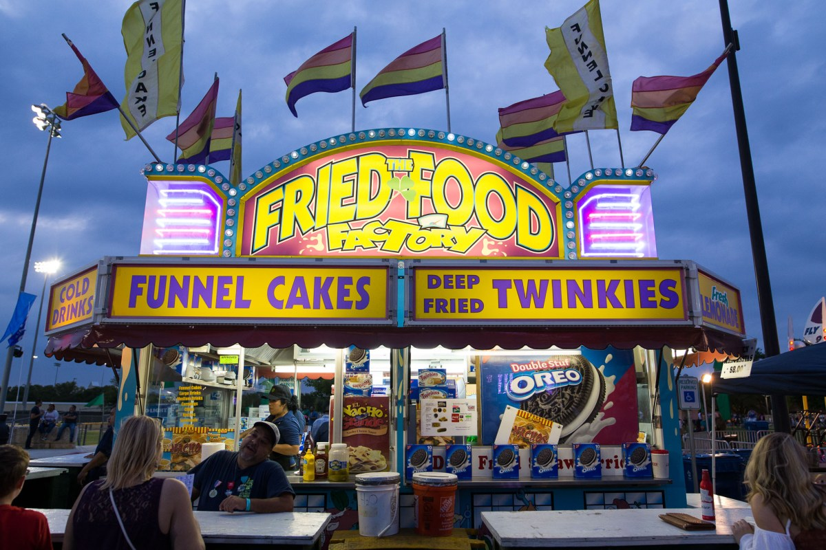 One of the many food stands at the 100th Oyster Bake. Photo by Scott Ball.