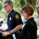 San Antonio Police Chief William McManus responds to a reporters question regarding the training of future police officers. Photo by Scott Ball.