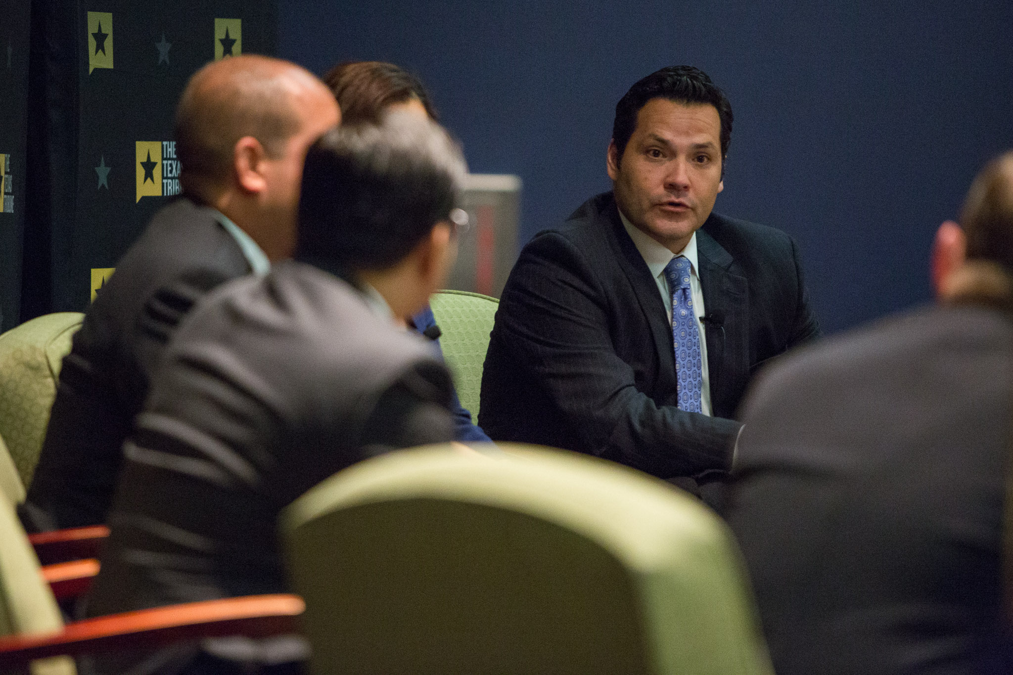 State Rep. Justin Rodriguez (D125) responds. Photo by Scott Ball.