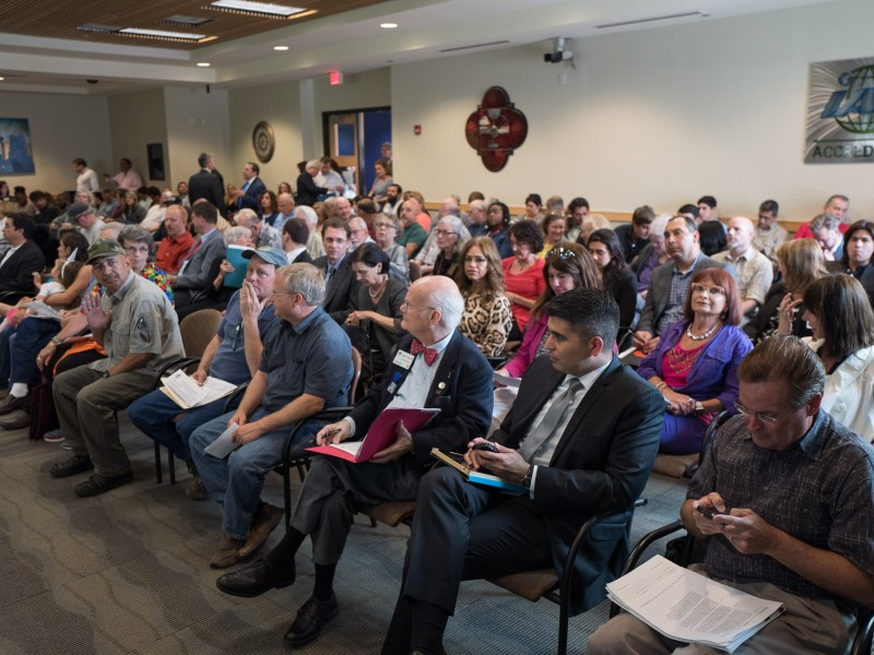 A full house at the Zoning Commission public meeting on April 19th 2016.