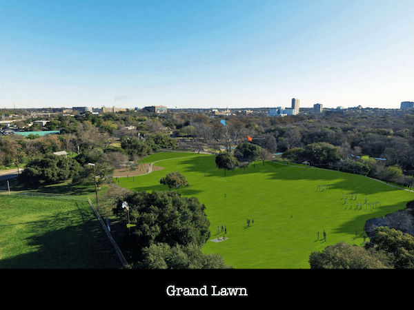 The draft master plan included a grand lawn.