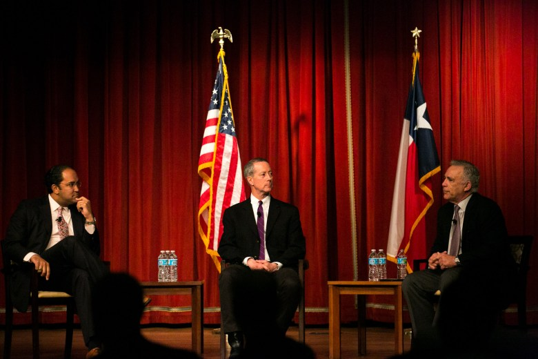 Congressman Mac Thornberry, and Congressman Will Hurd address the growing importance of San Antonio's military. Photo by Kathryn Boyd-Batstone