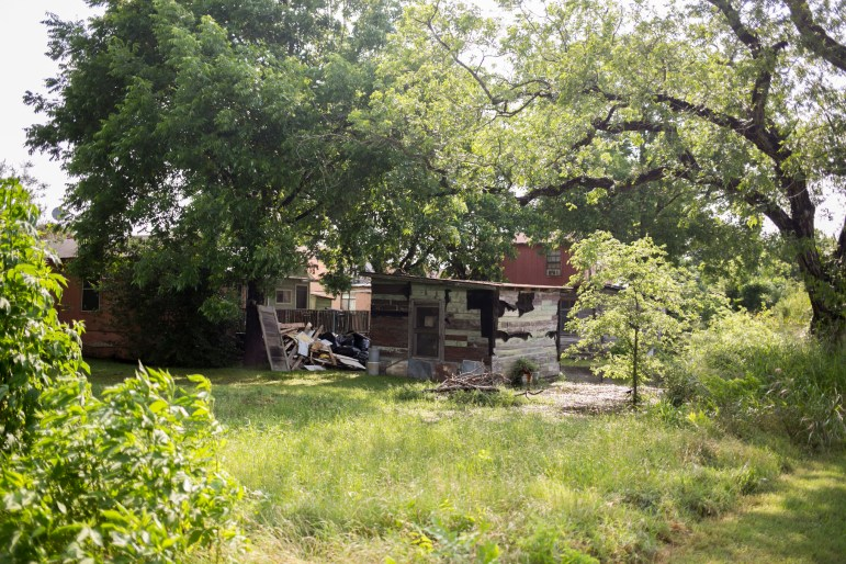 A house alongside the future Confluence Park 3-acre area. Photo by Kathryn Boyd-Batstone