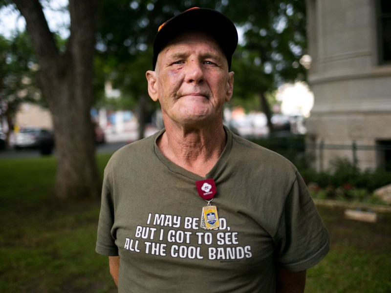 David Parker is one of 1,335 homeless veterans in San Antonio who were identified and processed for permanent housing. Photo by Kathryn Boyd-Batstone