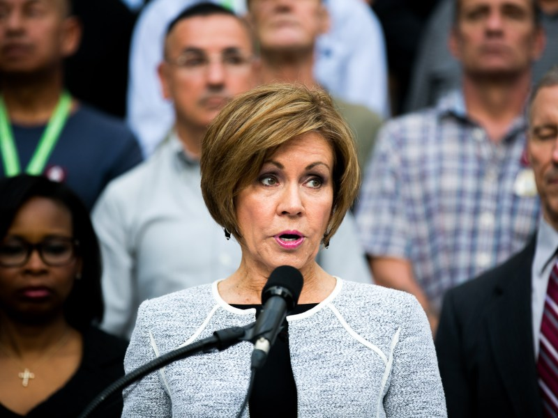 San Antonio City Manager Sheryl Sculley speaks about how San Antonio is known as Military City, U.S.A. Photo by Kathryn Boyd-Batstone