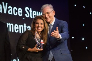 Tammy Verstrate of LaVace Stewart Elementary wins the Leadership Category Honors Teachers Award. Photo by Michael Cirlos