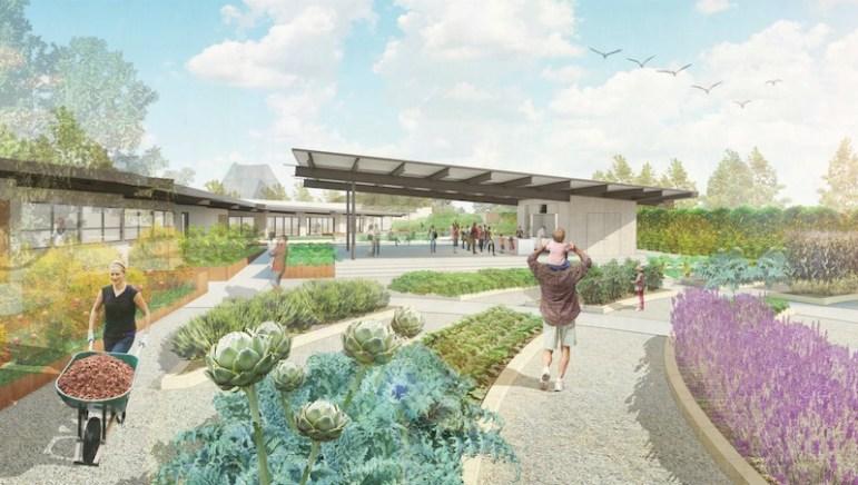 San Antonio Botanical Garden has plans for a Culinary Garden. Rendering courtesy of the San Antonio Botanical Garden.