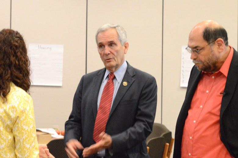U.S. Rep. Lloyd Dogget (D-Texas) discusses federal food welfare. Photo by Lea Thompson
