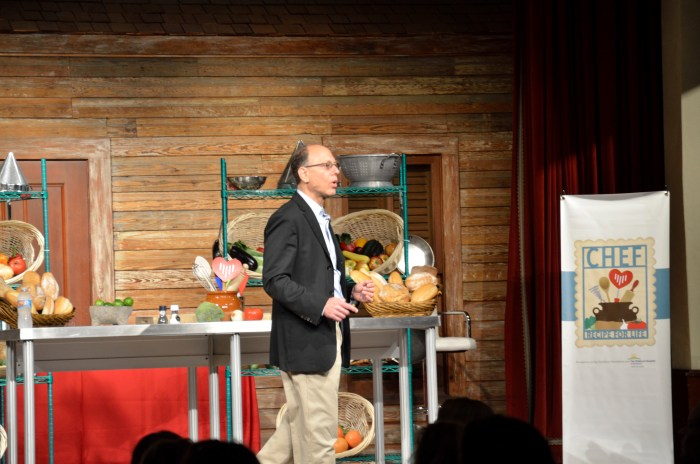 Dr. David Ludwig discusses overeating and obesity, and fat vs. low carbs. Photo by Cherise Rohr-Allegrini.