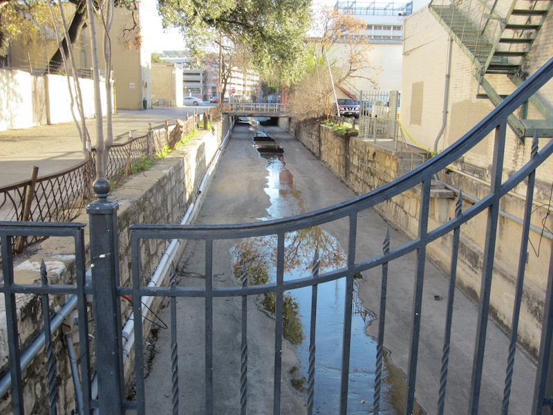 San Pedro Creek as it exists today, adjacent to the Spanish Governor's Palace. Photo courtesy of The Cultural Landscape Foundation.