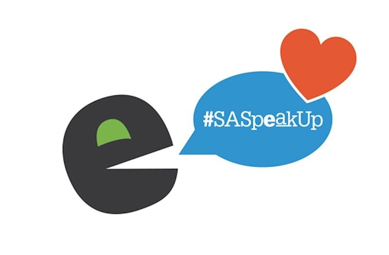 SASpeakUp logo design by the City of San Antonio.