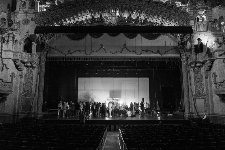 Buttercup and fans finish the evening on the Majestic Theatre stage as a final set of music is played. Photo by Scott Ball.