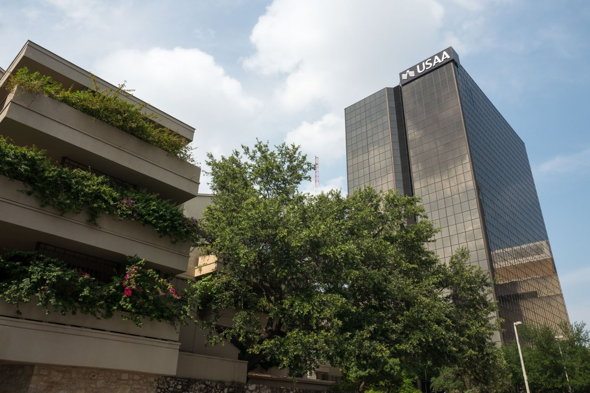 The USAA downtown offices at One Riverwalk Place. Photo by Scott Ball.