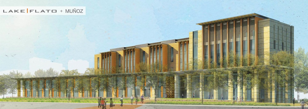 Conceptual rendering of the U.S. District Court for the Western District of Texas. Image courtesy of Lake/Flato Architects and Munoz & Company.