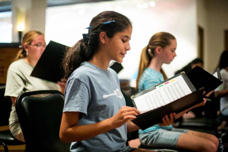 Valeria will join other choral groups from around the US for the New York performance. Photo by Kathryn Boyd-Batstone.
