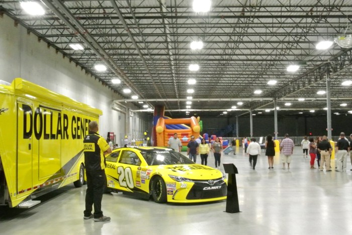 The Dollar General Racing show car was at the Grand Opening of the Distribution Center June 4, 2016.  Photo by Sarah Talaat
