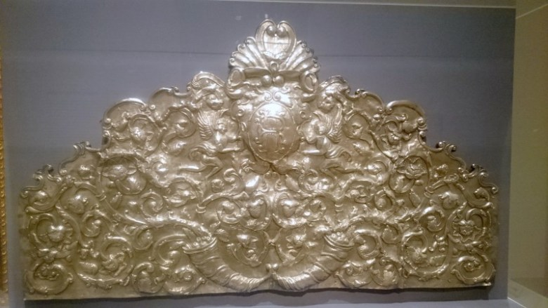 One of the many objects in Highest Heaven, this silver fragment of a relief was made between the late 17th and early 18th century in Bolivia. Photo credit: Iris Gonzalez.