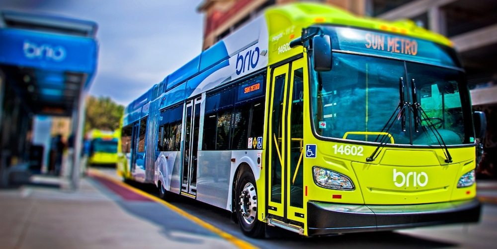 Introducing bus rapid transit was one of the first major steps toward implementing the ambitious Plan El Paso. Image courtesy of Sun Metro.