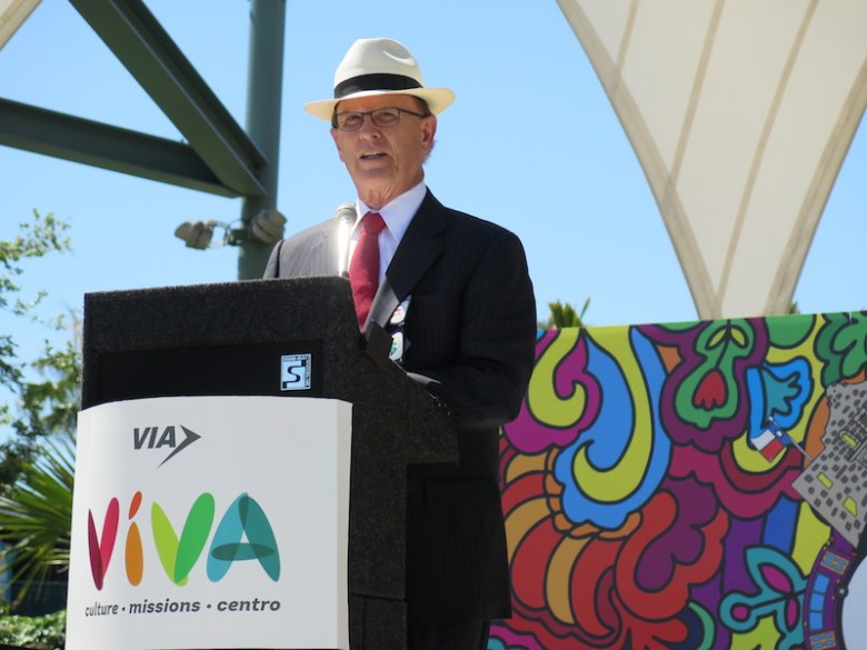 """Bexar County Judge Nelson Wolff calls for further improvements to the Broadway Street """"cultural corridor."""" Photo by Katie Walsh."""