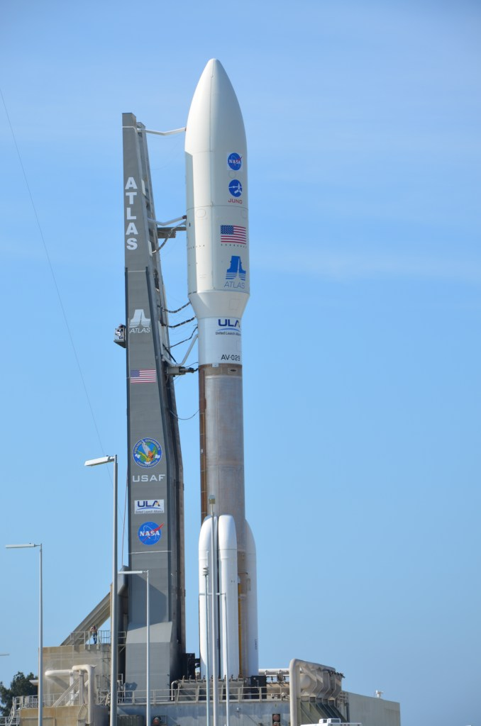 Atlas V prepares to launch with the Juno payload heading to Jupiter. Photo courtesy of Frederic Allegrini