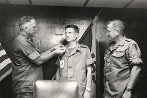 Maj. Charles Kettles earned the Distinguished Service Cross, the military's second-highest honor, for his bravery in the Vietnam War. Photo courtesy of OLLU.