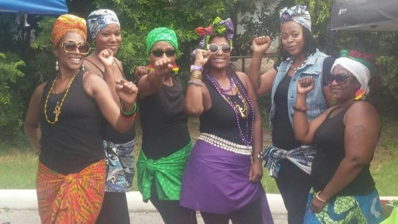 The African Drum Circle dancers, Tribe of Umoja/Unity Queens, at the First Annual PACF of San Antonio.