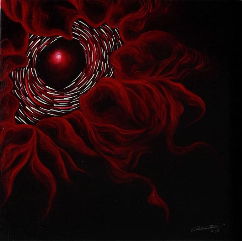 Paroxysm X Open Sore, 2012, oil on canvas. Photo courtesy of the artist Alejandro Augustine Padilla.