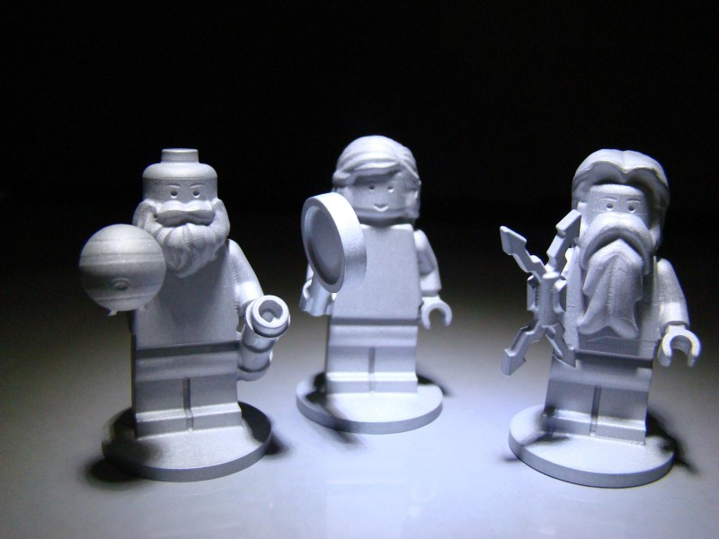 The three LEGO figurines flying aboard the Juno spacecraft are the Roman god Jupiter, his wife Juno and Galileo Galilei. Photo courtesy of NASA/JPL-Caltech/LEGO.