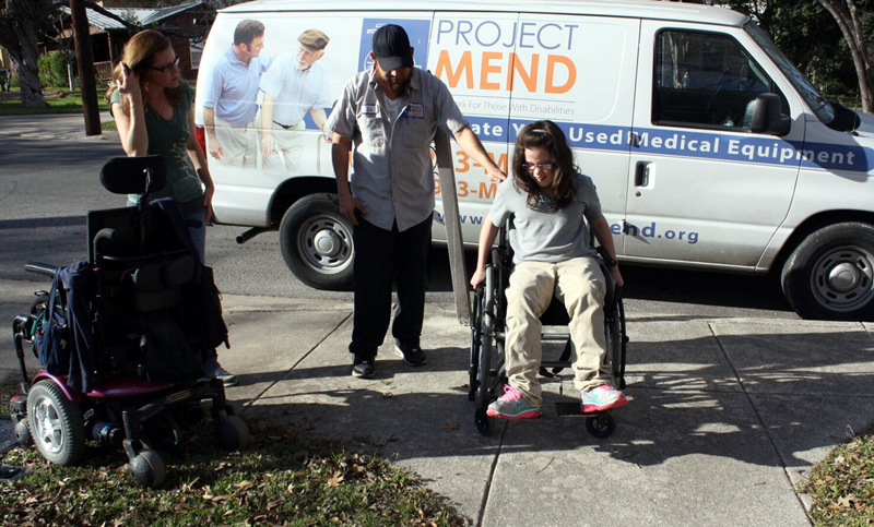 Providing refurbished wheelchairs and other home medical equipment to people in need fills an important niche in San Antonio and much of South Texas. Photo courtesy of Project MEND.