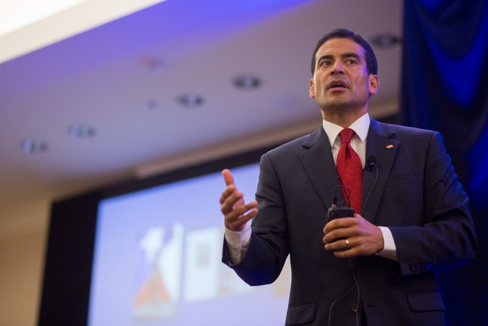 Bexar County District Attorney Nico LaHood gives the state of the District Attorney address. Photo by Scott Ball.