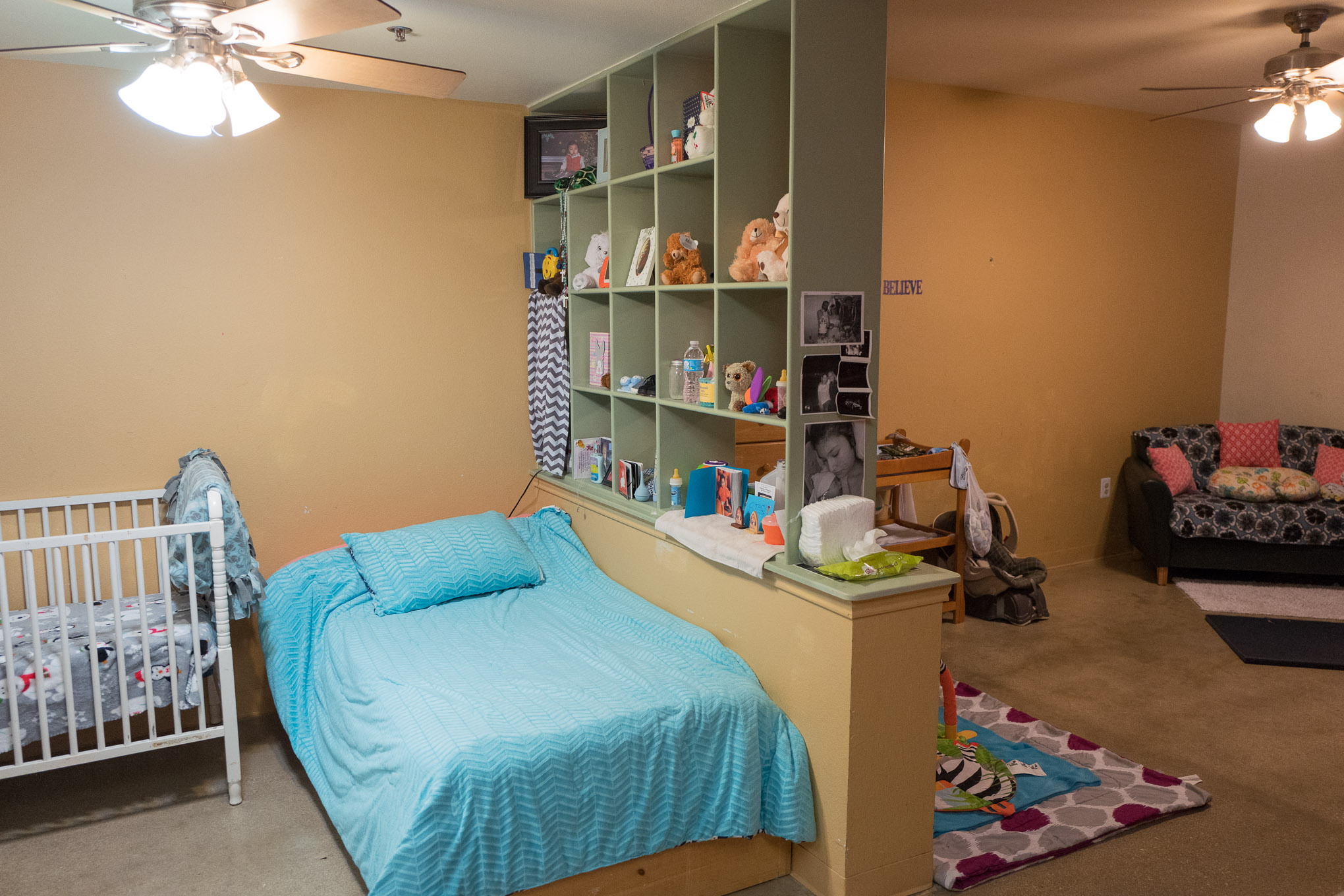 Private rooms with built in kitchens are provided for every young mother in the program. Photo by Scott Ball.