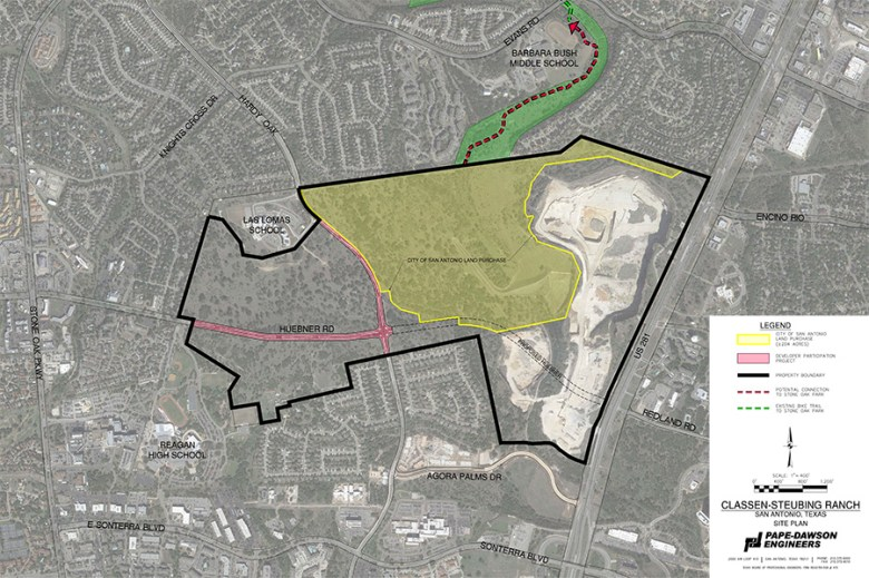 Renderings of the proposed City of San Antonio land purchase.
