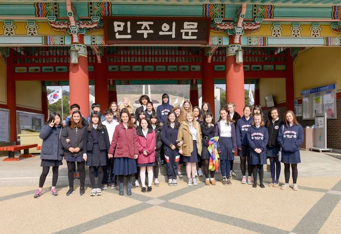 Students from the International School of the Americas visit San Antonio's Korean sister city Gwangju to participate in a nine-day educational and cultural exchange program. Photo courtesy of the San Antonio International Relations Office.