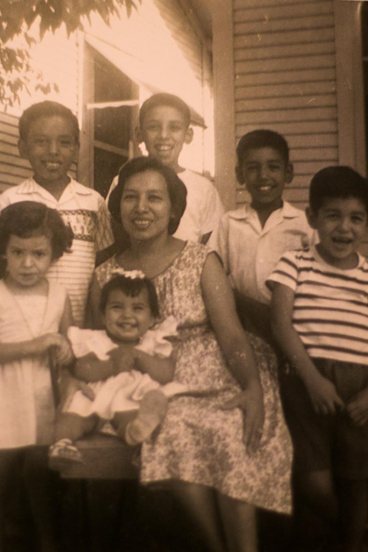 Isabel Sanchez and her children. Photo by Kathryn Boyd-Batstone.