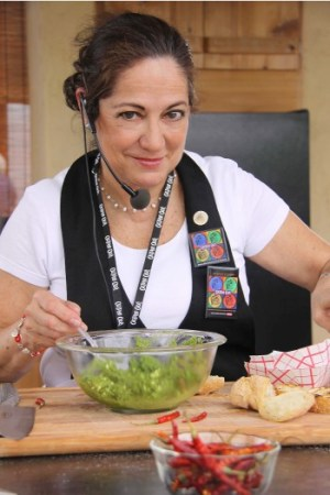 Chef Ana Martinez during a cooking demonstration. Photo by Tracy Maurer.
