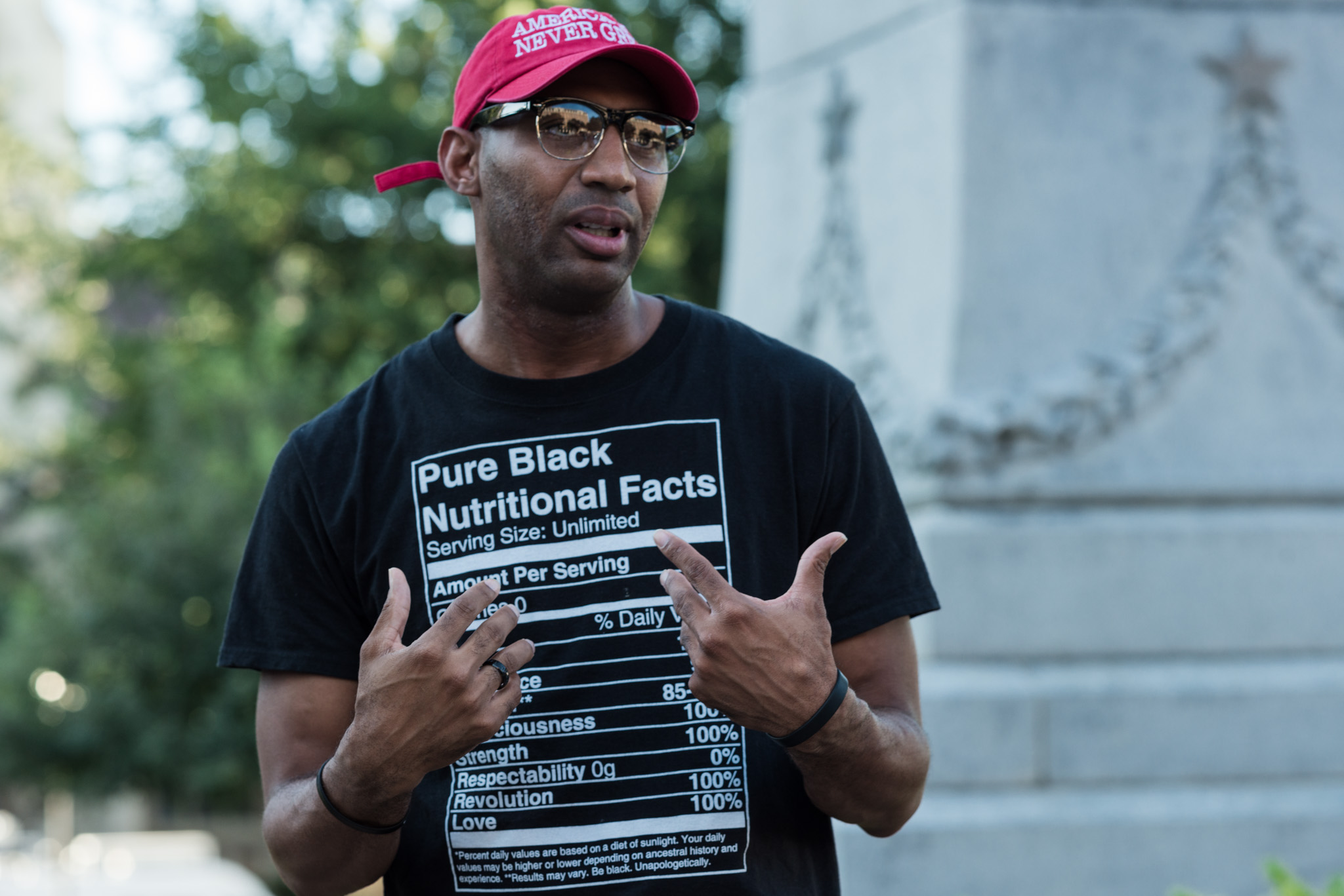 Mike Lowe, 36, takes his time to speak. Photo by Anthony Francis.
