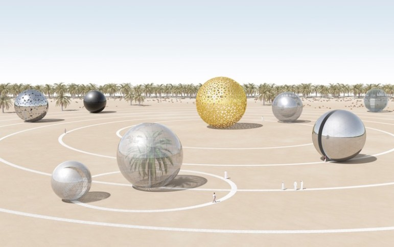 Solar (ECO) System, a submission to the 2014 Land Art Generator Initiative design competition for the UAE. Image courtesy of LAGI.